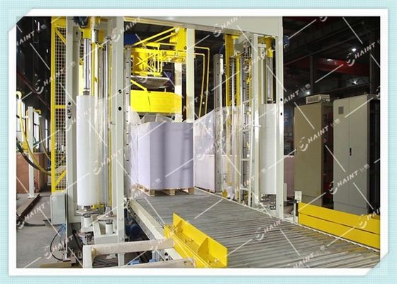 Gas Heating Pallet Wrapping Equipment , Automatic Wrapping Machine CE Certification